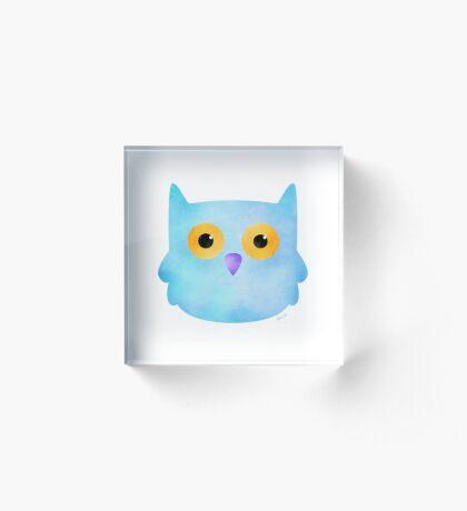 Pale Blue Owl Acrylic Block