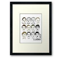 12 Moon Men Framed Print