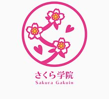Sakura Gakuin Logo Men's Baseball ¾ T-Shirt