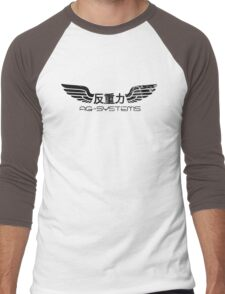 Wipeout - AG Systems - 50s Style (Black) Men's Baseball ¾ T-Shirt