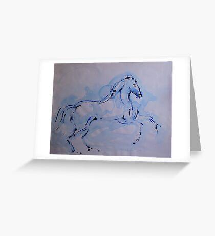 Le Cheval Bleu Greeting Card