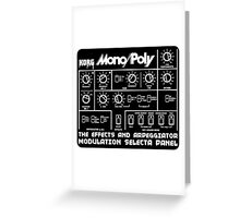 Synthesizer Korg MonoPoly Greeting Card