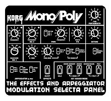Synthesizer Korg MonoPoly Photographic Print