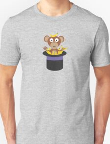 sweet monkey with bananas in hat  Unisex T-Shirt