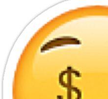 Money Mouth Emoji Sticker Sticker