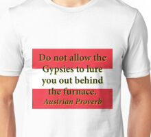 Do Not Allow The Gypsies - Austrian Proverb Unisex T-Shirt