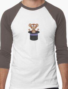 sweet monkey in hat  Men's Baseball ¾ T-Shirt