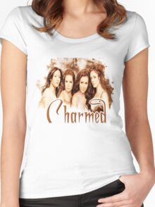 Charmed sister cast Women's Fitted Scoop T-Shirt