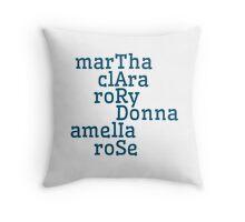 Companions & TARDIS Throw Pillow