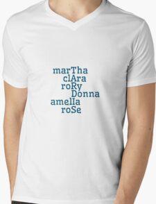 Companions & TARDIS Mens V-Neck T-Shirt