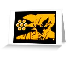 son goku and seven dragon ball Greeting Card