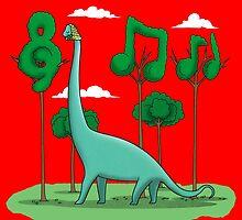 Sebastian BACHiosaurus by BoggsNicolasArt
