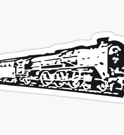 dampflok railroad locomotive Sticker