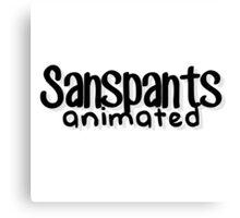 Sanspants Animated Logo Canvas Print
