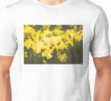 Impressions of Gardens - Golden Daffodil Blooms Unisex T-Shirt