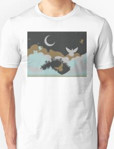 Pigeon in the Clouds 3 Unisex T-Shirt