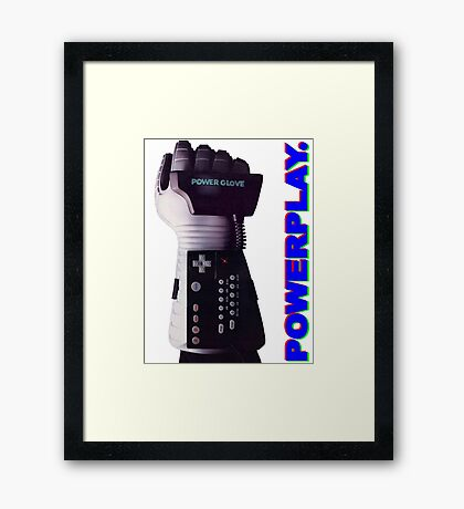 NES Power Glove - POWERPLAY Framed Print