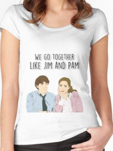 We go together like Jim and Pam Women's Fitted Scoop T-Shirt