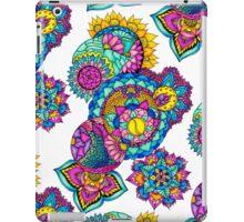 Modern bright floral watercolor mandala hand drawn iPad Case/Skin