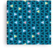 Pattern with triangles Canvas Print
