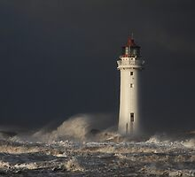 Storm at Perch Rock Lighthouse by robevans