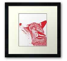Quirky Fox Framed Print