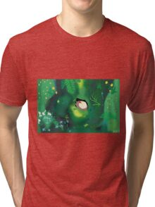 My neighbour totoro tree scene  Tri-blend T-Shirt