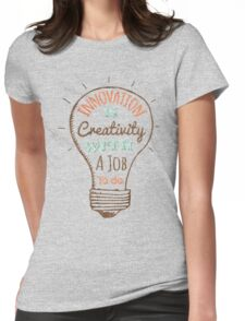 Innovation is Creativity Womens Fitted T-Shirt