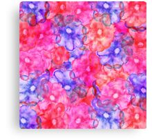 Pink blue hand painted floral watercolor modern Canvas Print