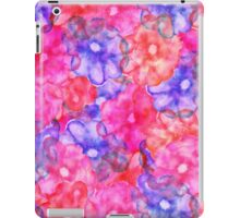 Pink blue hand painted floral watercolor modern iPad Case/Skin