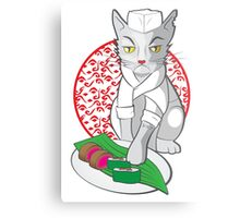 No-one but me makes the sushi (Japanese cat chef) Metal Print