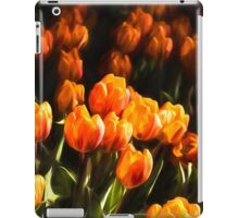 Impressions of Gardens - Flame Colored Tulip Abundance iPad Case/Skin