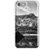 first snow at the mountain lake iPhone Case/Skin