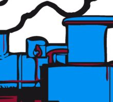 dampflok railroad small Sticker
