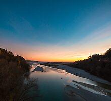 Sunset on Tagliamento river by zakaz86