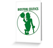 BOSTON CELTICS SIMPLE LOGO Greeting Card
