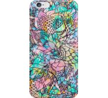 Bright hand drawn floral watercolor pattern iPhone Case/Skin