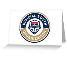 USA BASKETBALL YOUTH DEVELOPMENT Greeting Card