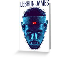 LEBRON THE BLUE FACE Greeting Card