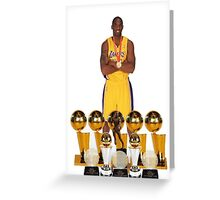 KOBE THE LEGEND BRYANT Greeting Card