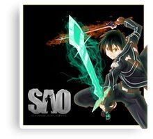 kirito sword art online Canvas Print