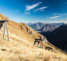 Autumn morning in the alps by zakaz86