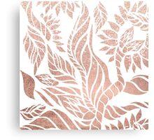 Modern geometric rose gold hand drawn floral Canvas Print