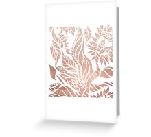 Modern geometric rose gold hand drawn floral Greeting Card