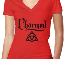 CHARMED-logo Women's Fitted V-Neck T-Shirt