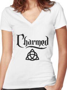 CHARMED-logo Women's Fitted V-Neck T-Shirt