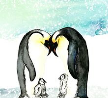 Emperor Penguins  by amyoharris