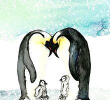 Emperor Penguins  by amyoharris
