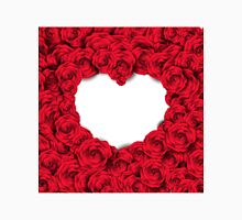 Background with red roses and empty heart Classic T-Shirt