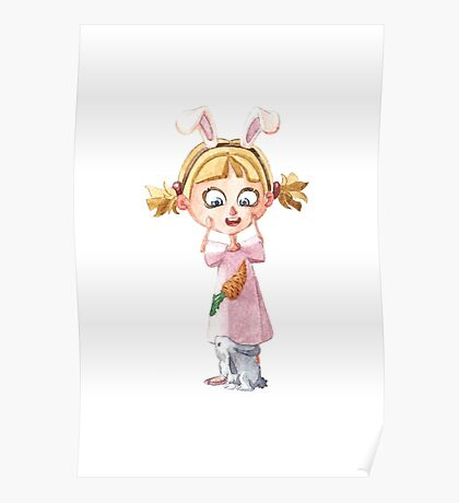 Bunnie girl Poster